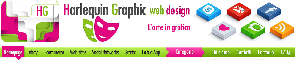 Harlequin Graphic web design